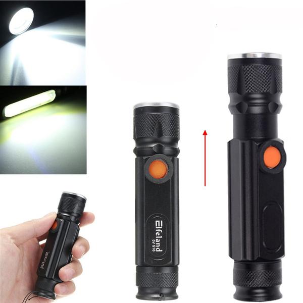 Elfeland T6 2000LM 3Modes Магнитный хвост Перезаряжаемый Zoomable LED Фонарик