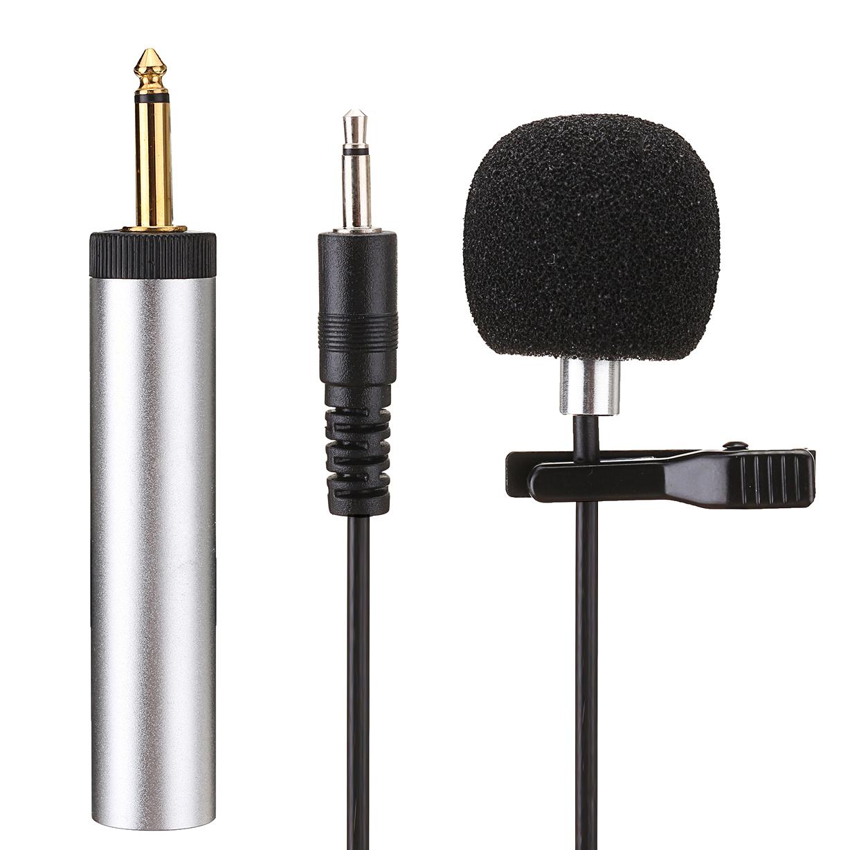 ERzhen S318 Lavalier Clip-on Cardioid Capacitance Проводная Микрофон для смесителя Усилитель