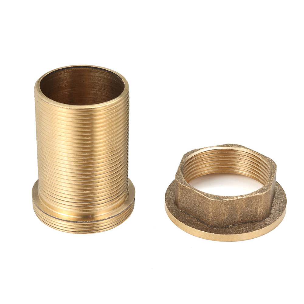 faucet threaded brass tube nut parts