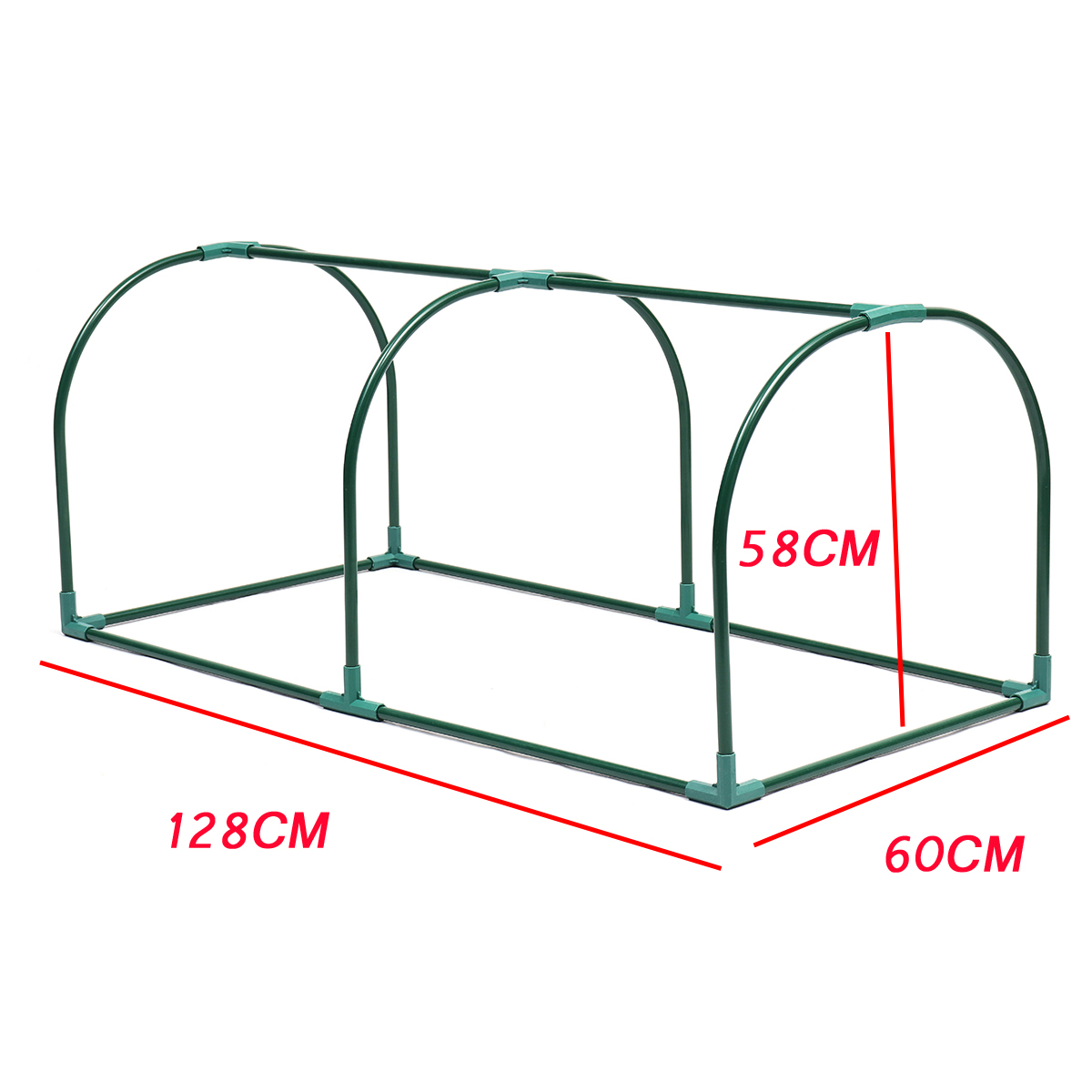 Astounding 2 Sections Transparent Clear Pvc Tunnel Greenhouse Green Planting Grow Box House Steel Frame Download Free Architecture Designs Lectubocepmadebymaigaardcom