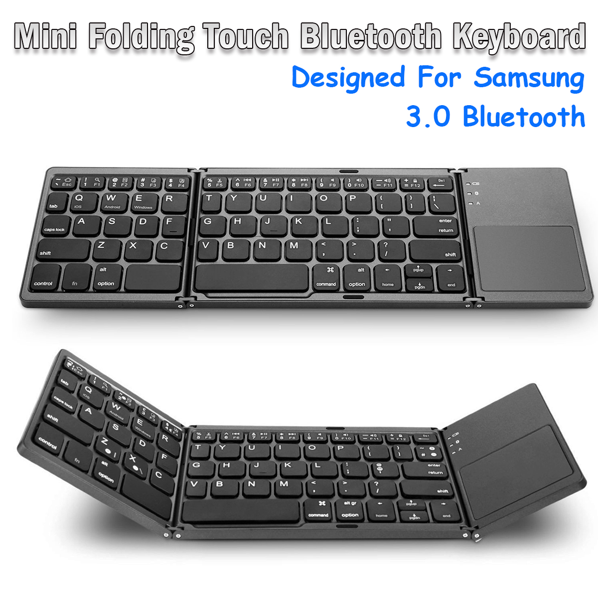 ba39494a6e8 mini foldable touch 3.0 bluetooth keyboard for samsung dex win/ios ...