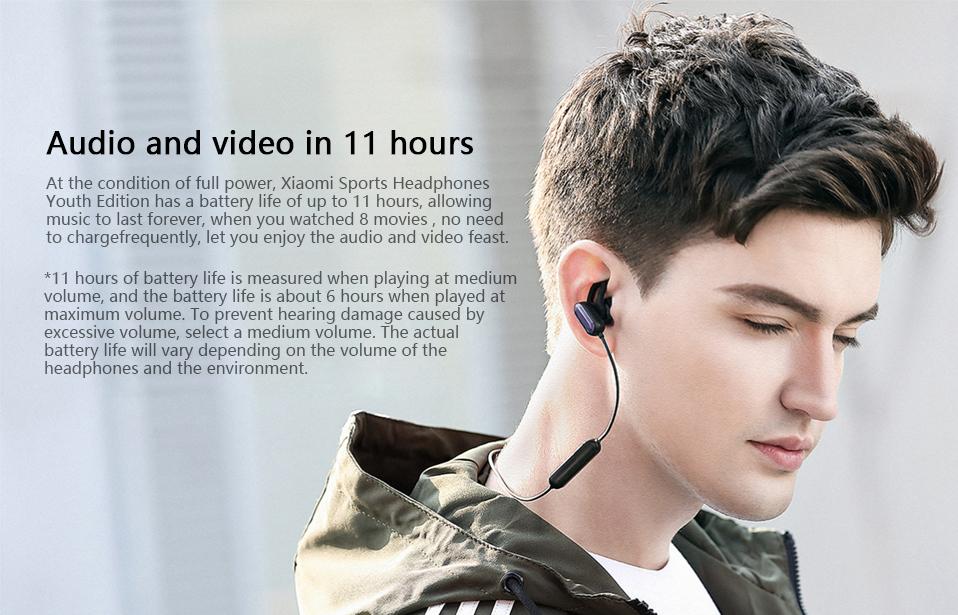 Xiaomi Youth Wireless bluetooth Earphone Noise Cancelling Waterproof Sports Headphone with MEMS Mic 20