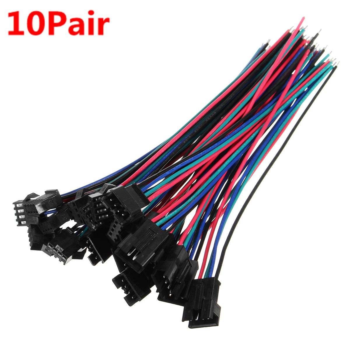 22AWG 2 Pin Male Female JST Plug Socket Connectors Pre-Wired Li-Po Battery Leads