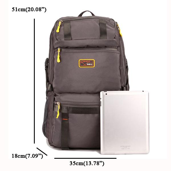 Casual Big Capacity Polyester Travel Backpack Multi Pocket Computer Bag