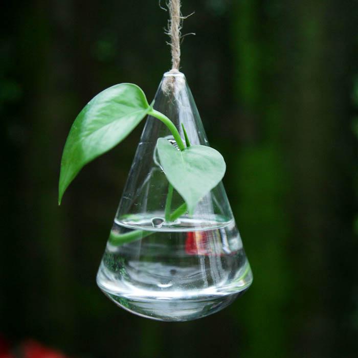 water drop shaped glass bottle vase