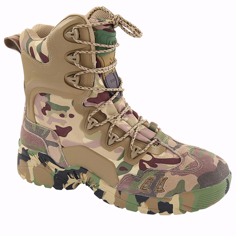 4ea7517cb51 ESDY Men Tactical Winter Army Boots Desert Shoes Outdoor Hiking Leather  Military Combat Male