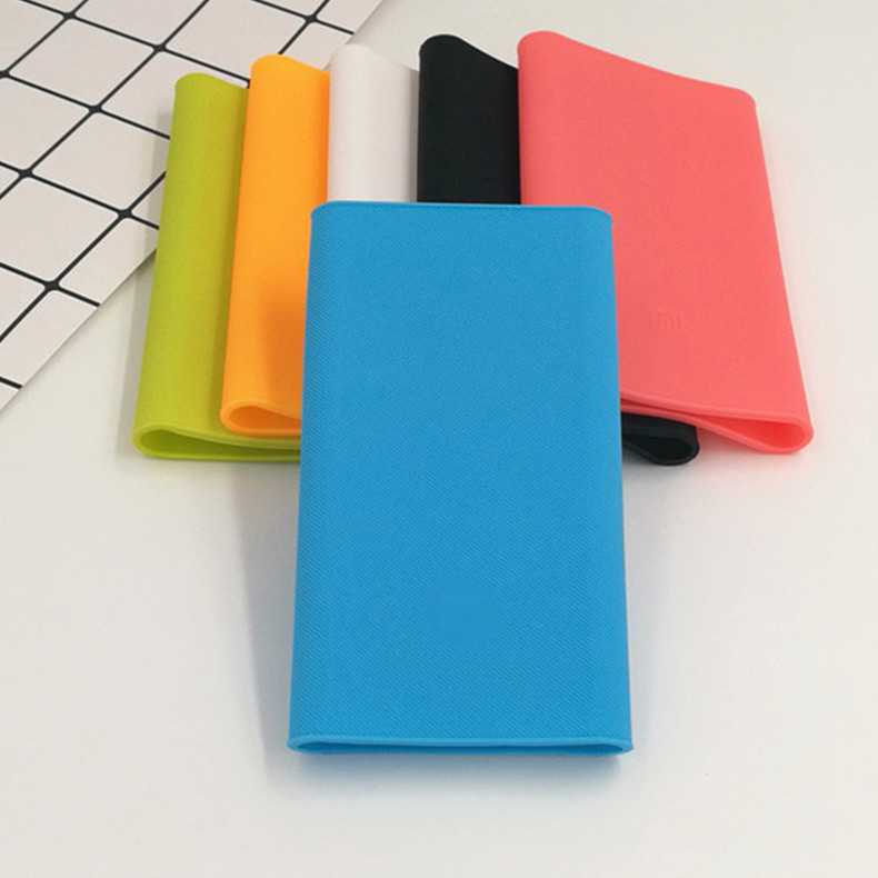 new arrival 0ccc7 ad413 Silicone Protective Back Cover Case For Xiaomi Mi 2nd Generation Power Bank  10000mAh