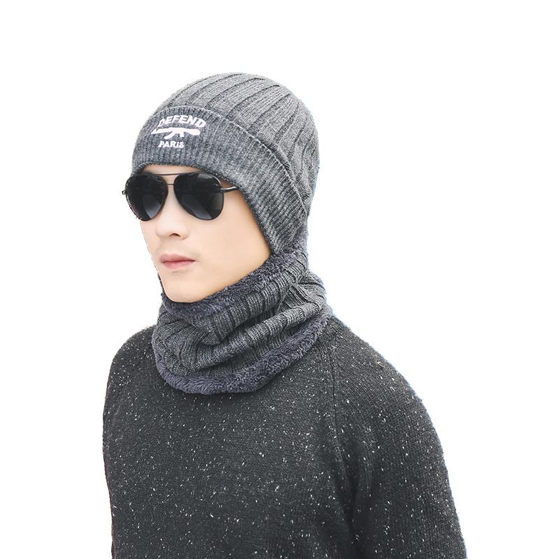 Трикотажные изделия Шея Подогреватель зима Шапка Маска Шапочка для балаклавы шапка для мужчин Женское