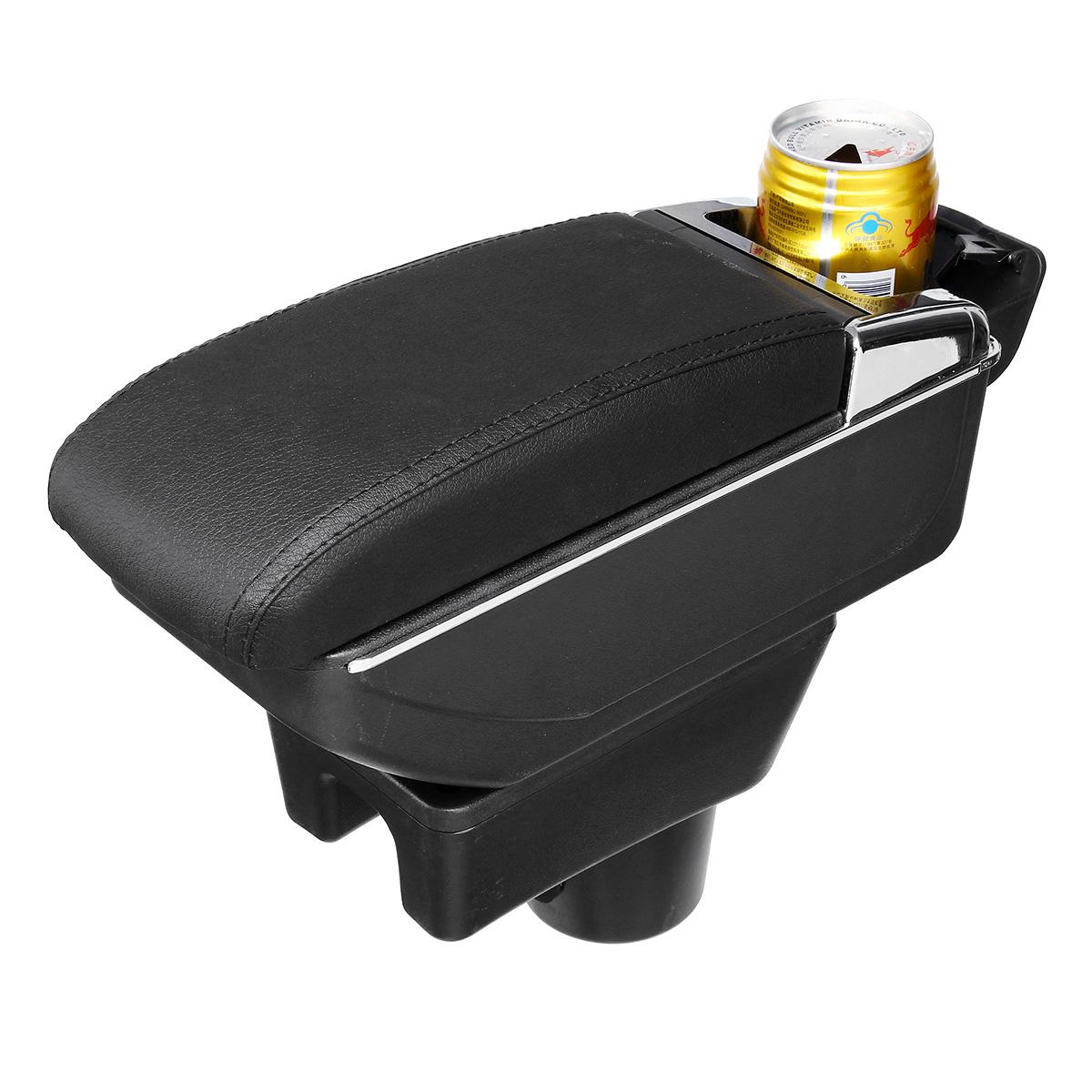 Черная кожа Black Line Двухслойный подлокотник Авто Хранение Коробка Для Mitsubishi 2014-2018