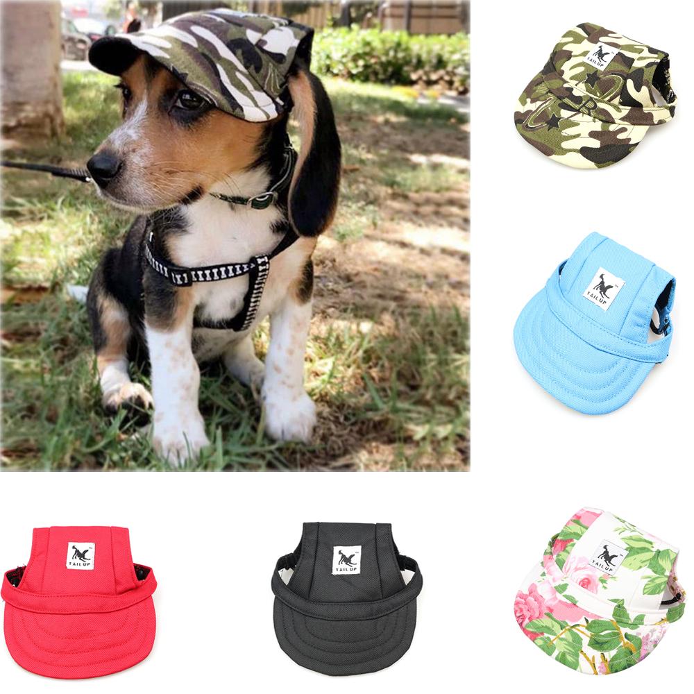 SummerPetСобакаСимпатичнаябейсболкас принтом Шапка Маленькая Собака На открытом воздухе Шапка Бейсболка Уход за домашними животными С