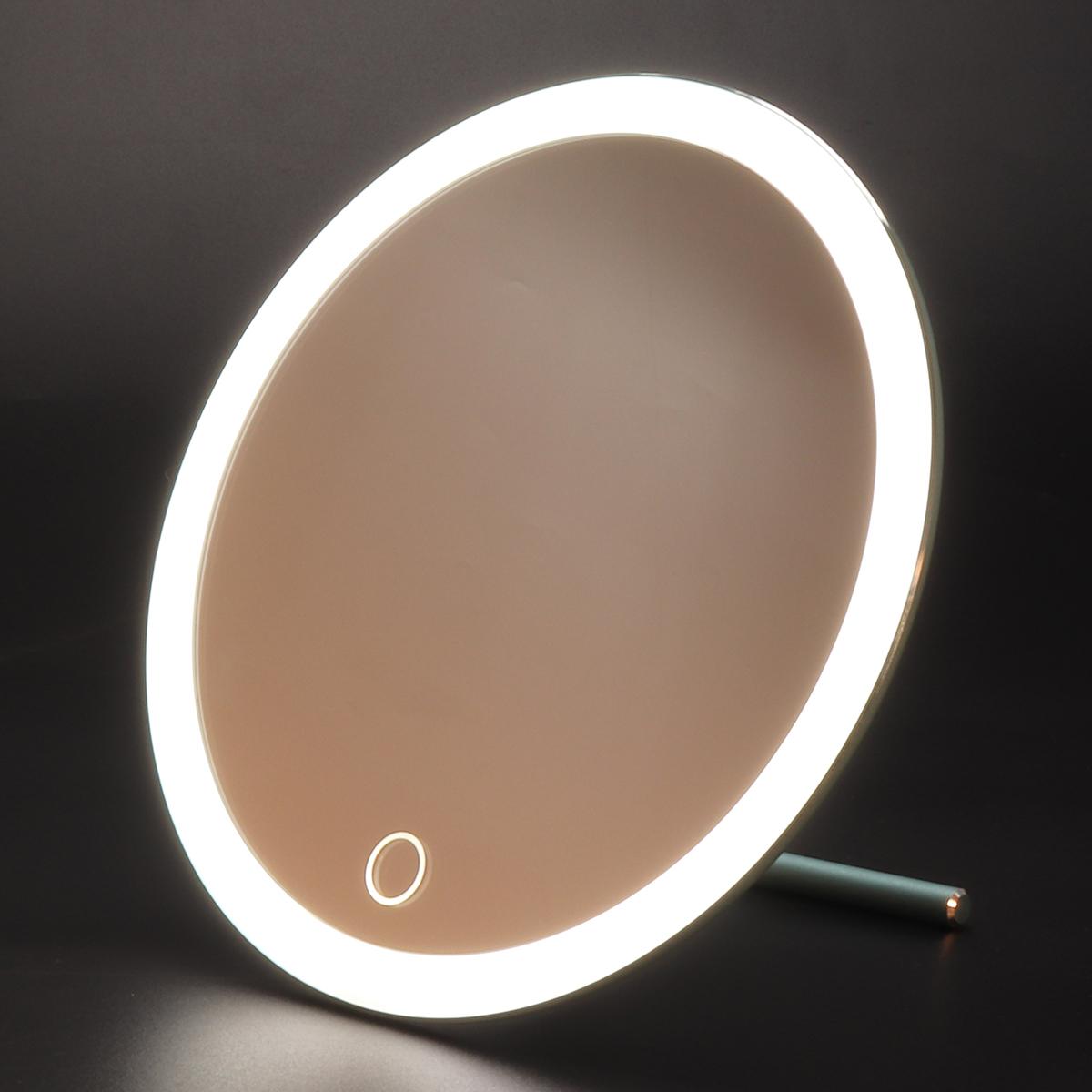 USB Светодиодный Макияж Зеркало с мини-увеличительным зеркалом