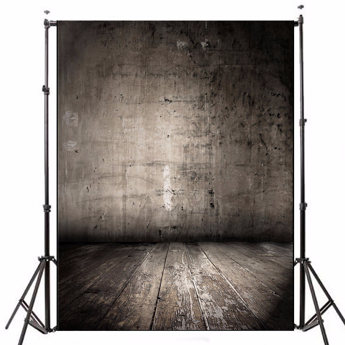 1.5x2.1m Black Wooden Walls Theme Photography Background Vinyl Fabric