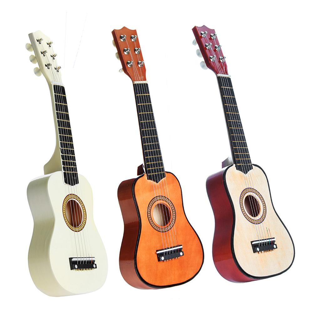 Guitare acoustique Classic de Basswood de cordes de 21 pouces 6 pour le mini instrument de musique de cadeau d'enfants d'enfants