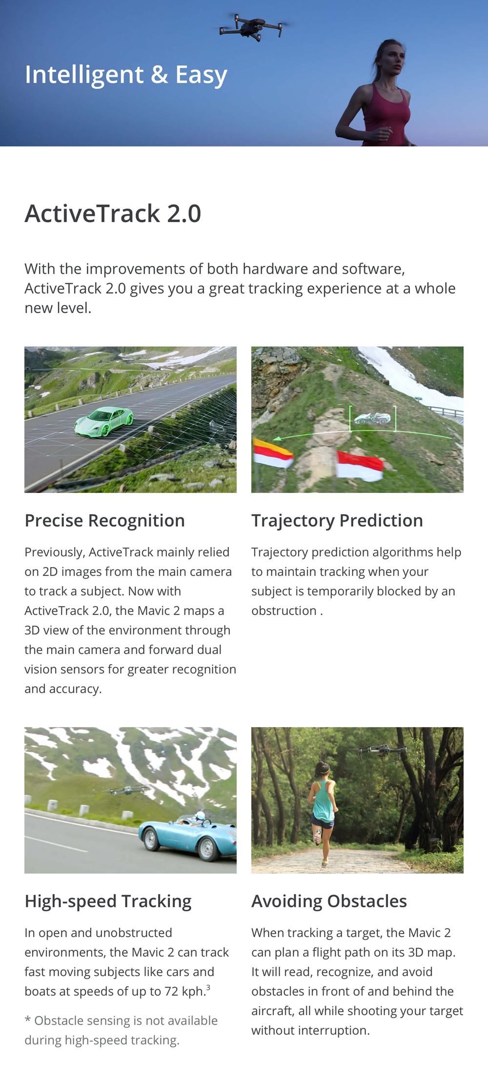 DJI Mavic 2 Pro / Zoom 8KM 1080P FPV w/ 3-Axis Gimbal 4K Camera  Omnidirectional Obstacle RC Drone