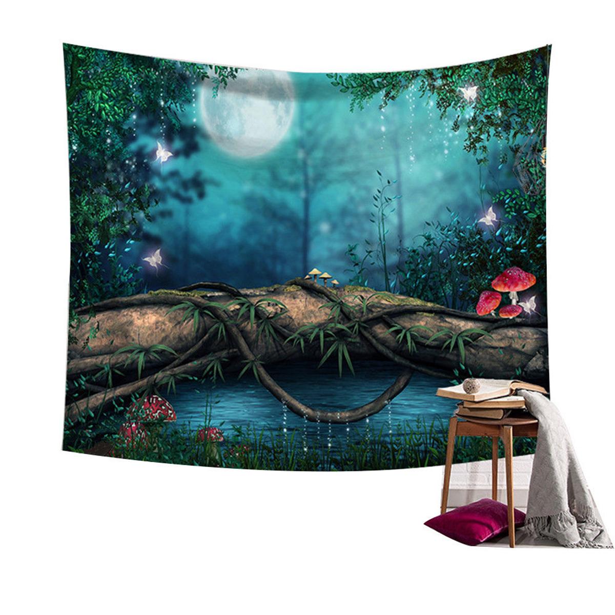 Сказочный лес Подвесной стенный гобелен Bohemian Hippie Throw Покрывало Home Decor