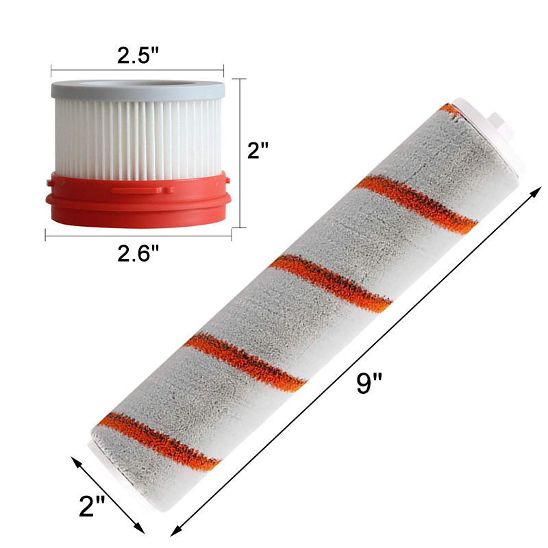 9pcs HEPA Filter For Xiaomi Dreame V9 Wireless Handheld Vacuum Cleaner Accessories Hepa Filter Roller Brush Parts Kit 8