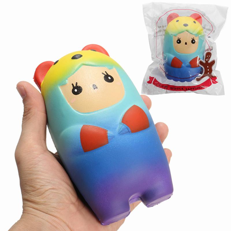 SquishyShop Bär Puppe Squishy 15cm Random Emoji Langsam Aufgehen Mit Packaging Sammlung Geschenk Dekor Spielzeug