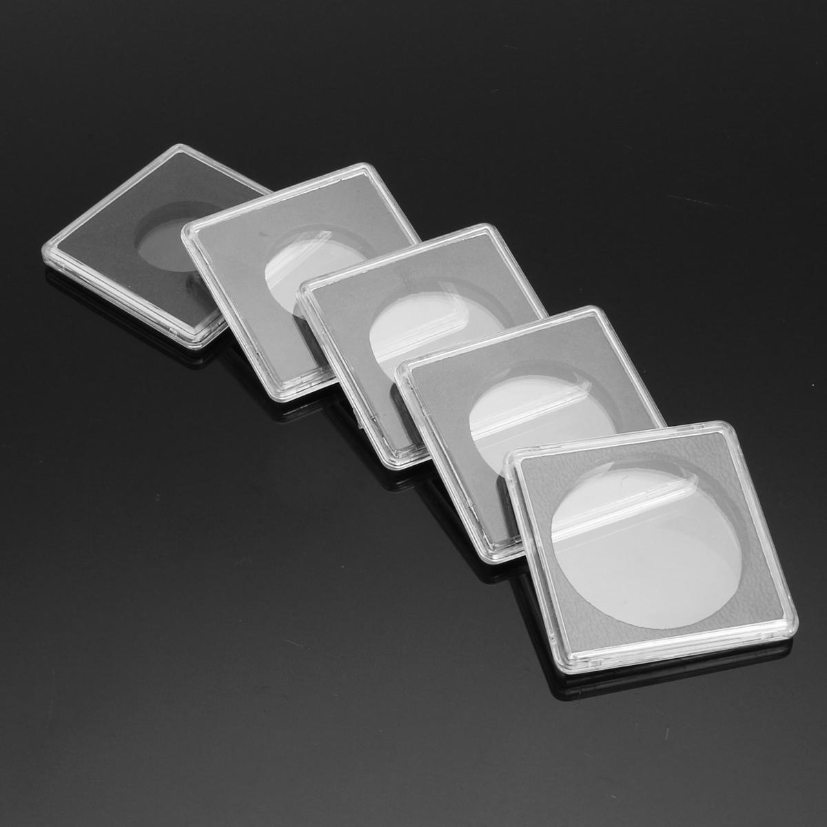 5размеровClearSquareCoinCapsule Коробка Держатель монет Quadrum от 24,5 до 40,5 мм
