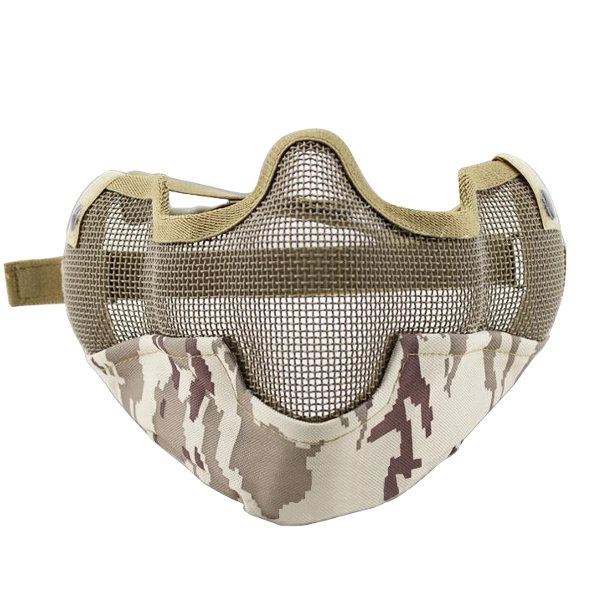 WoSporT MA-10 CS Protective Half Face Mask Fencing Tactical War Game Airsoft Outdooors