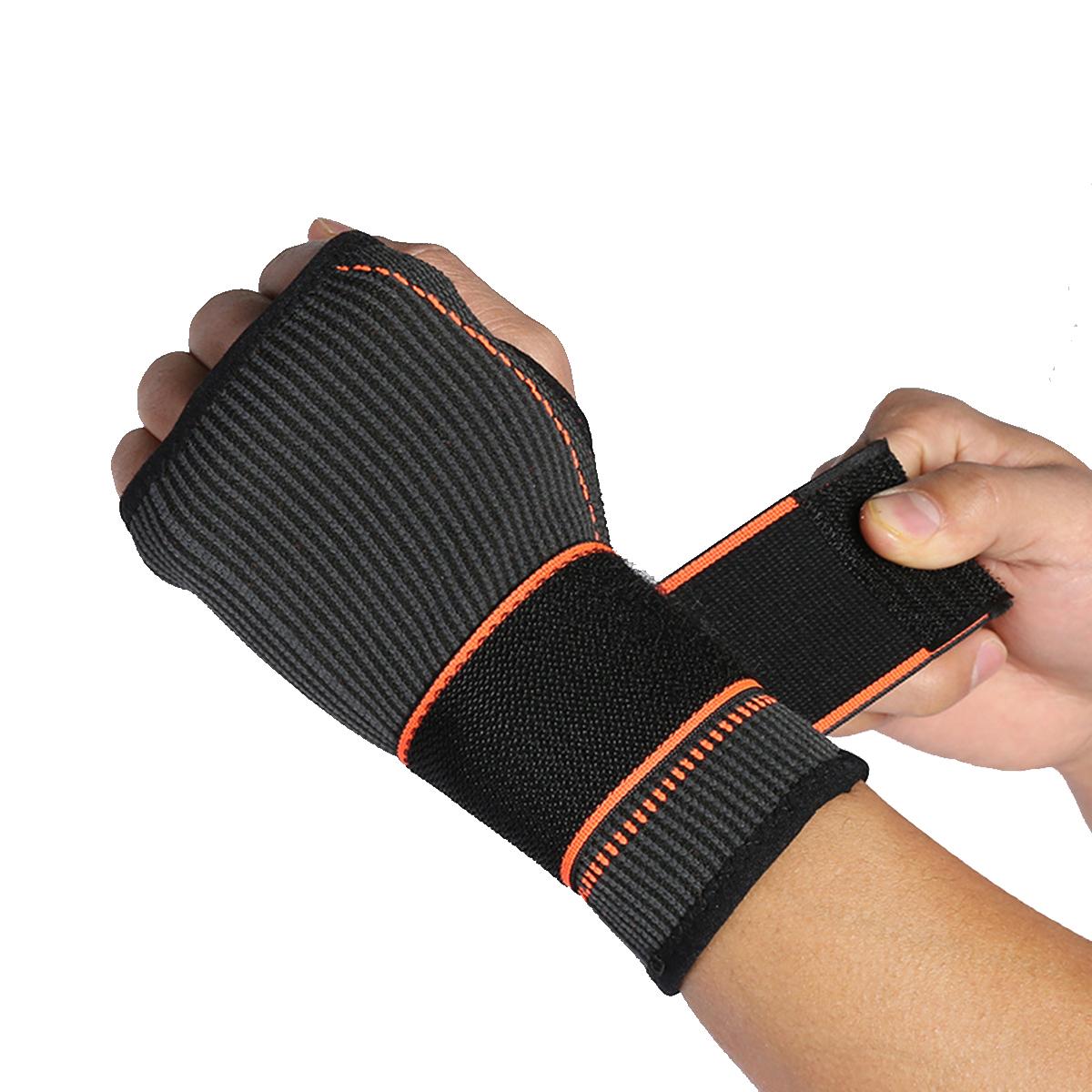 1PcРегулируемаязапястьеПоддержкаКемпингСпортивная ручка Palm Brace Strap Wraps Рука предотвращает растяжения