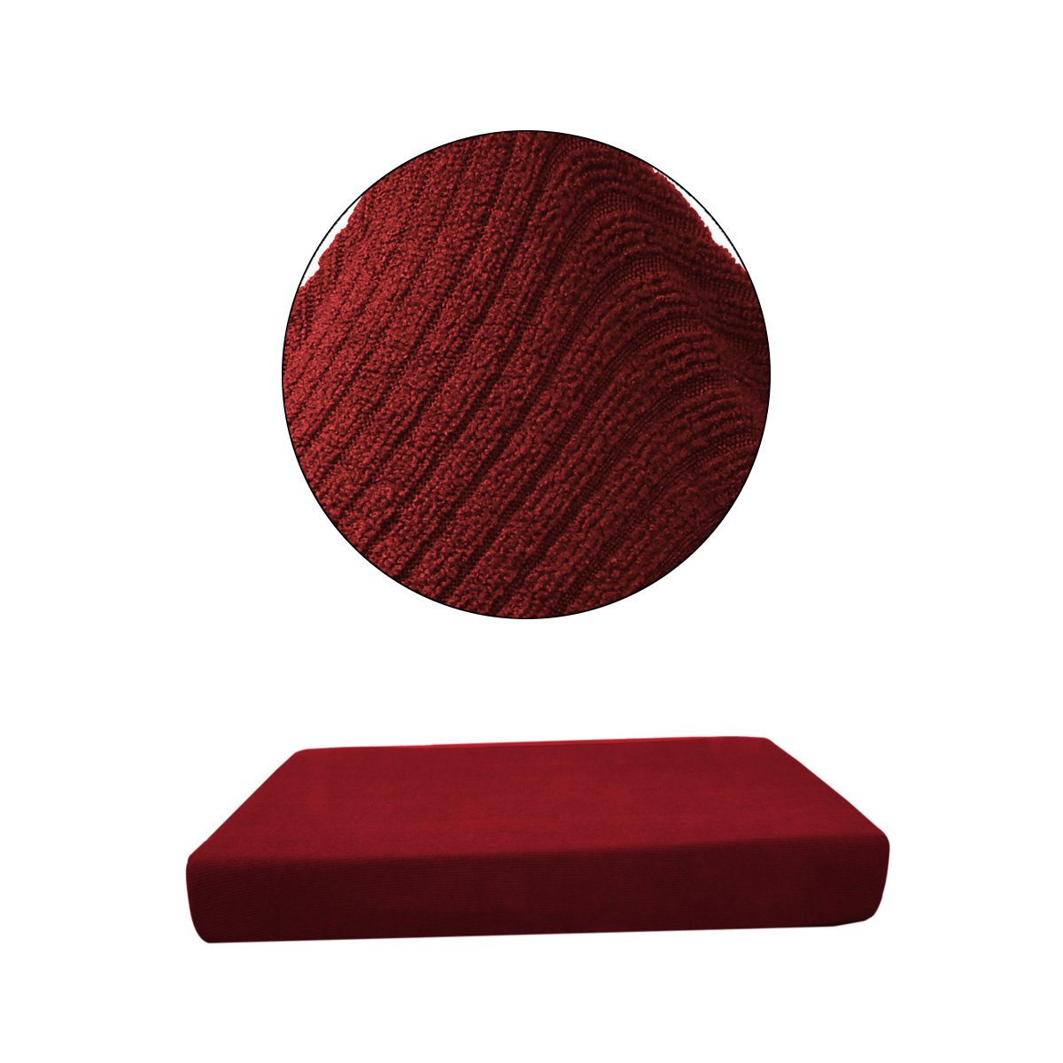 Replacement Sofa Seat Cushion Cover Couch Chair Slip Covers Protector Fabric Stretchy Single-Seater