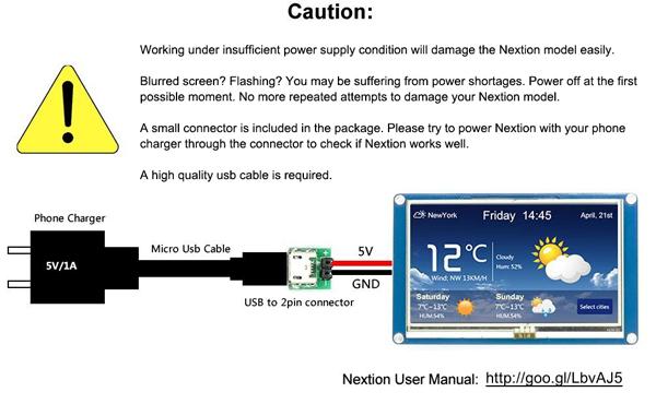 Nextion NX3224T028 2.8 Inch HMI Intelligent Smart USART UART Serial Touch TFT LCD Screen Module For Raspberry Pi Arduino Kits 10