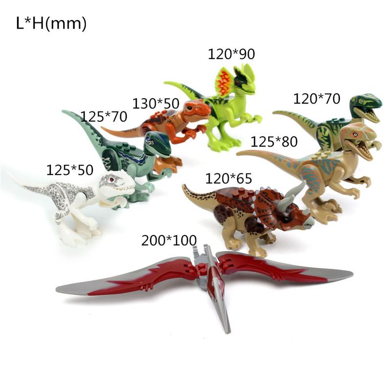8pcs Different Dinosaur World Building Blocks Mini Figures Toys