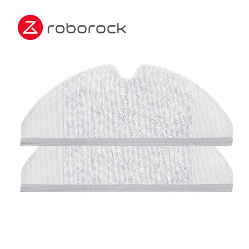 2pcs Mopping Cloth and 14pcs Water Tank Filter for Xiaomi Roborock S50 S51 Robot Vacuum Cleaner Spare Parts Kits Mopping Cloth Dry Wet Mopping 14pcs Water Tank Filter 6