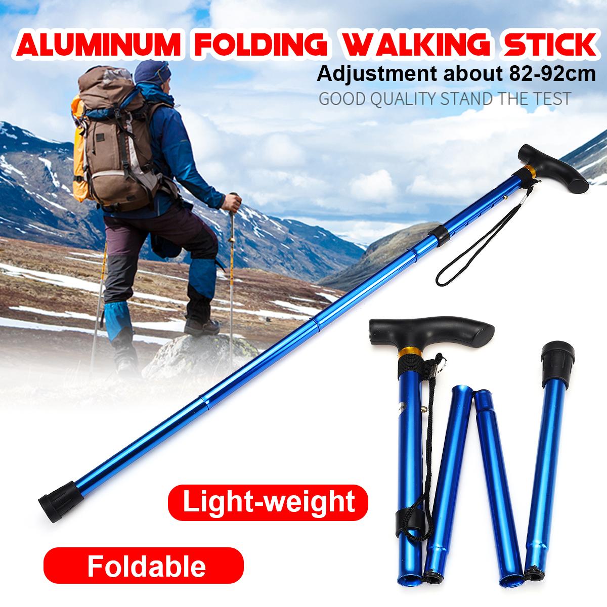 5-Section Adjustable Aluminum Walking Stick