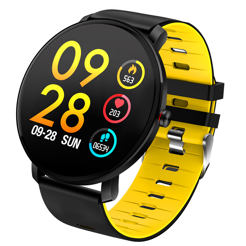 Bakeey K9 Full Touch 2.5D Screen Ultra-thin Heart Rate Blood Pressure IP68 Detachable Strap Smart Watch