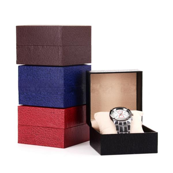 Black Red Blue Coffee Watch Box Watch Display Storage C