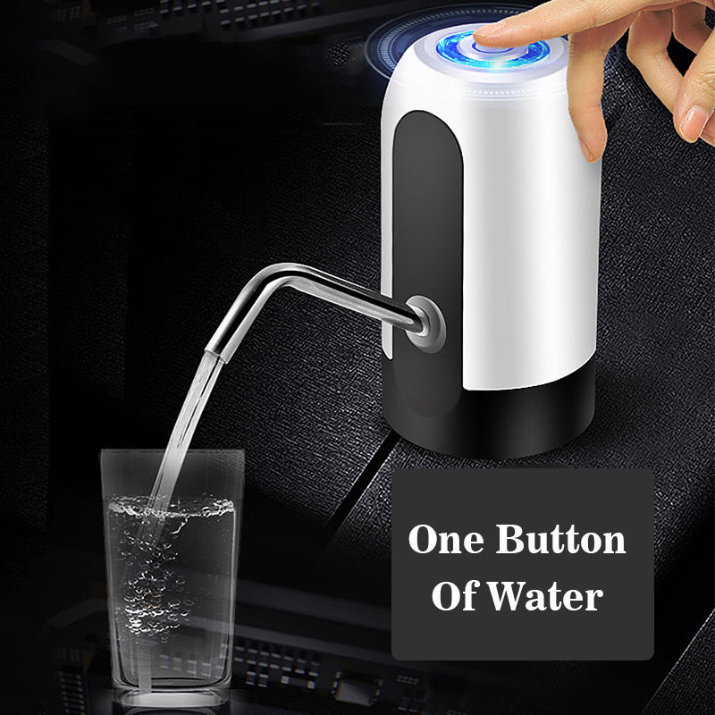 • 2020 • Bottled Water Dispenser Rechargeable Electric Water Pump Automatic Drinking Tool •  ARE YOU TIRED OF MANUAL WATER PUMP DEVICES? LOOKING FOR WATER DISPENSER SUITABLE FOR OUTDOOR AND INDOOR USE? NEED YOUR BOTTLE WATER PUMP TO BE EASY INSTALLED AND OPERATED?  WHY NOT CHOOSING WIRELESS ELECTRIC WATER DISPENSER!  Made of ABS safe material, internally and externally to effectively prevent rust, no smell, non-toxic, good gloss, scratch-resistant Stylish body design, portable, compact, lightweight, easy to operate by elderly or children Powerful, USB rechargeable, energy saving, fast and quiet Universal fit water bottle pump can be used at home, kitchen, office. Easy to carry for camping and picnic A built-in UL Certified 1200mAh Li-Ion battery will last you a long time, once fully charged    Specification: <p>Operating Voltage: DC 3.7V Color Optional: White,Black Material: ABS Product Size: 13x7.5cm/ 5.11x2.95in (approx) Charging: Micro USB Charging Cable,Charging time 3-4 Hours Applicable Bottled Water: Ordinary bottled water and PC bottled water with thread. Applicable Water Volume: 4.5L, 5L, 7.5L, 10L, 11.3L, 15L, 18.9L (2,3,4,5 Gallon Water Bottles) ON/OFF Power with LED: Red light is charging, Blue light is Working, LED turns off after charging</p>    Package Included: 1x Electric Water Pump           •