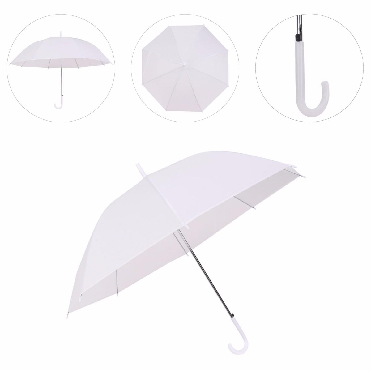 33984c84c Dome White Transparent Umbrella Large Clear Scrub Parasol Sun Rain for  Ladies Wedding