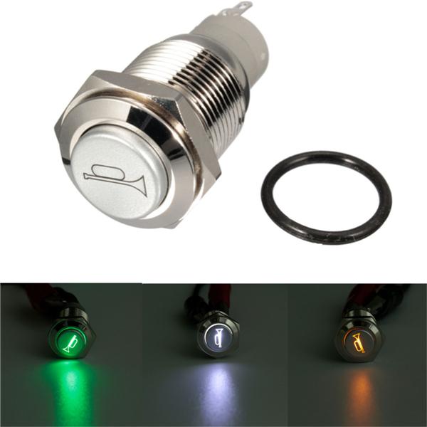 12v 16mm автомобиль лодка LED свет мгновенное рог кнопку выключателя 3 цвета