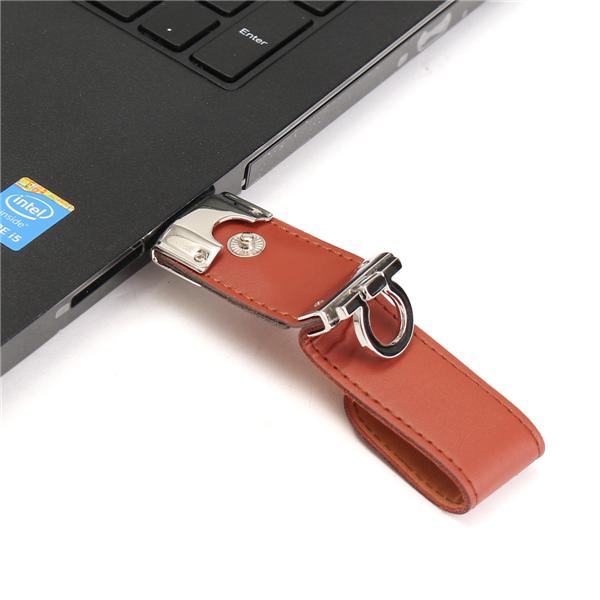 8/16/32GB Portable Leather Mirco USB2.0 OTG Flash Drive U Disk