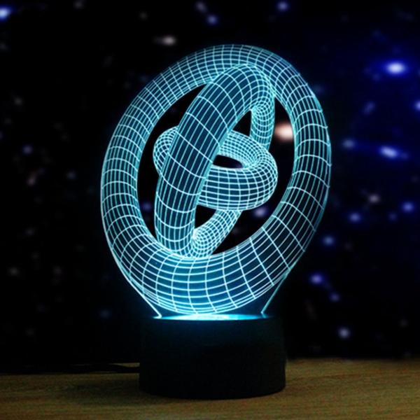 Художественное 3d ночной свет 7 цветов изменяя LED сенсорный выключатель настольные лампы подарка Xmas декор