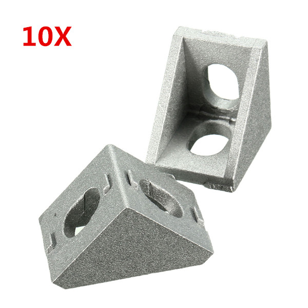 Suleve™ AJ20 Aluminium Angle Corner Joint 20x20mm Right Angle Bracket Furniture Fittings 10pcs