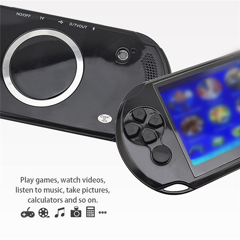 X9-S Rechargeable 5 0 inch 8G Handheld Retro Game Console Video MP3 Player  Camera