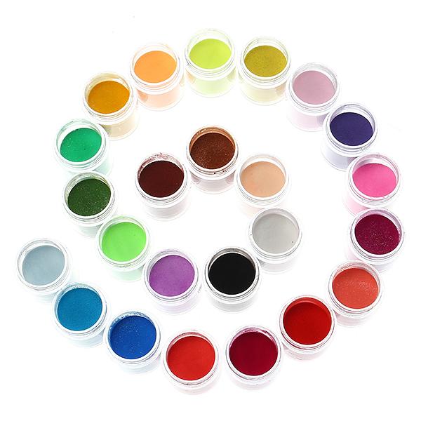 24 Colors Acrylic Manicure Nail Art Powder Dust D