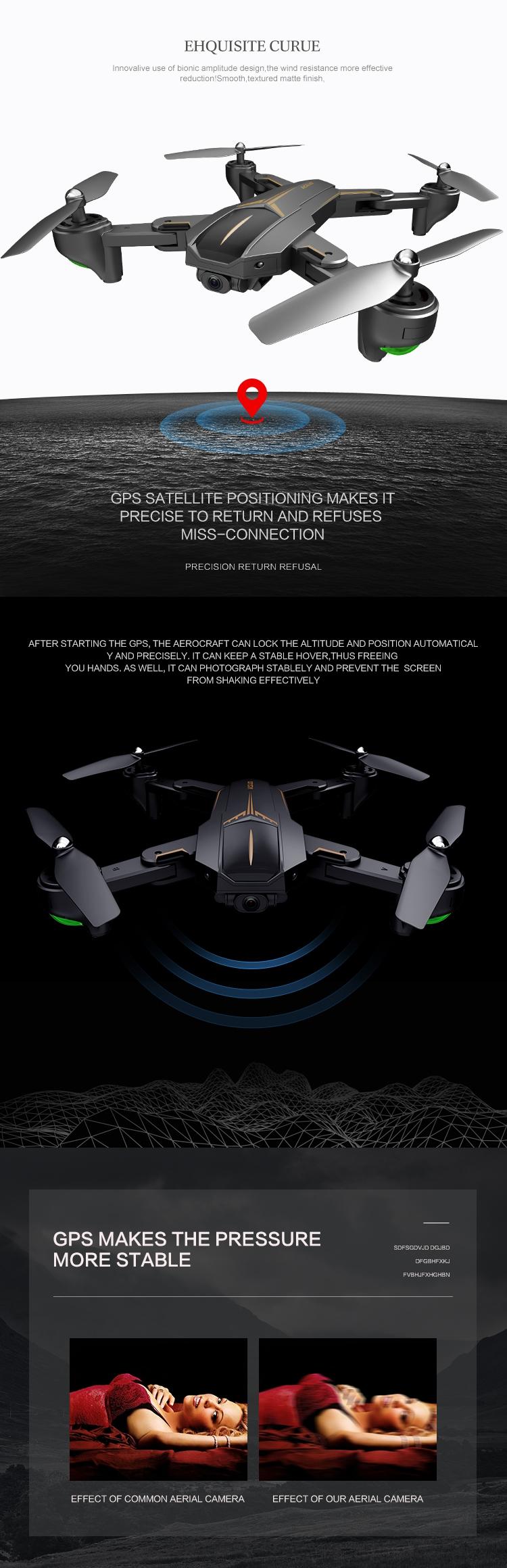 VISUO XS812 GPS 5G WiFi FPV w/ 5MP/4K HD Camera 15mins Flight Time Foldable  RC Drone Quadcopter RTF