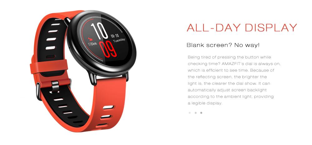 Original AMAZFIT IP67 Zirconia Ceramics GPS Heart Rate Monitor Smart Watch(English Version) from xiaomi Eco-System