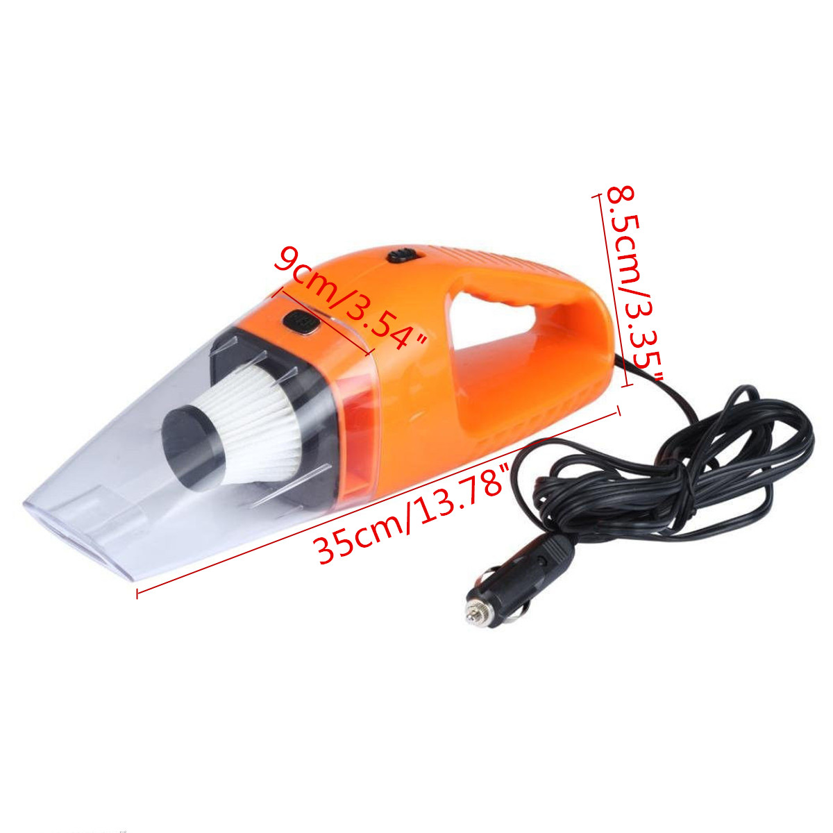 12V 120W Mini Handheld Vacuum Cleaner Useful In-Car Portable Wet & Dry Car Home
