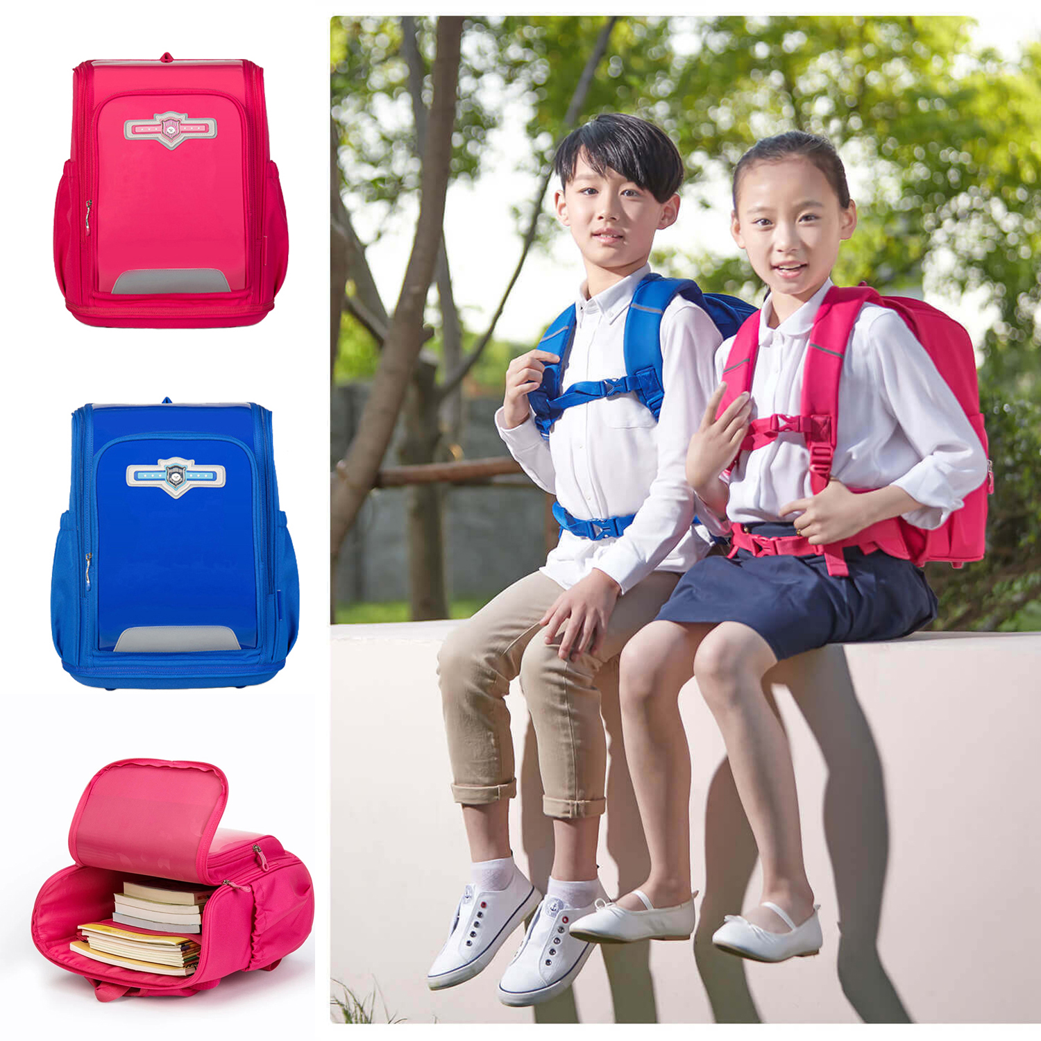 Xiaoyang Children Kids Backpack Student Schoolbag Satchel Burden Reducing Protect Spine For Boys Girls from xiaomi youpin