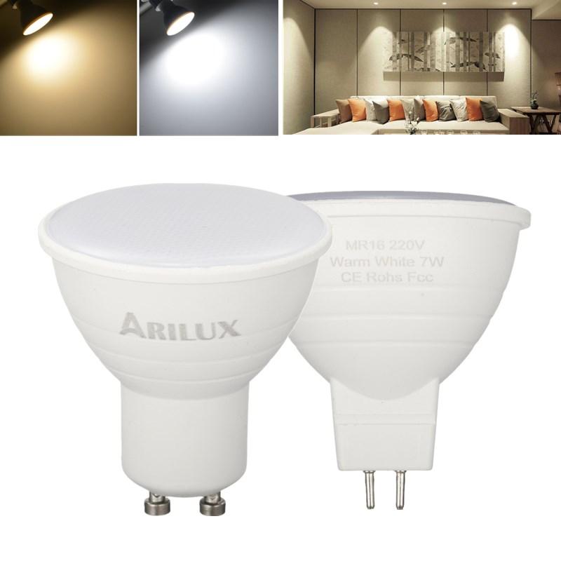 ARILUX® GU10 MR16 7W SMD2835 474LM Чистый белый теплый белый LED Кукурузный прожектор для дома AC220V