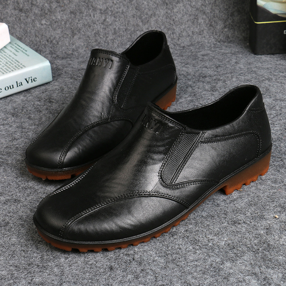 c9fc93e4a men casual waterproof flats slip on soft loafers at Banggood