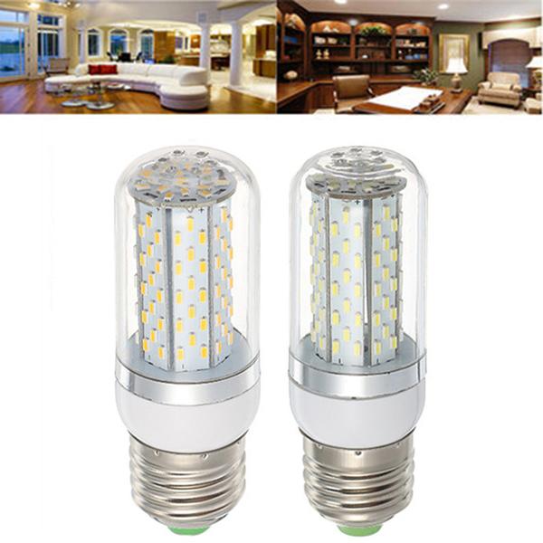 E27 5W SMD3014 120LEDs Warm White Pure White Corn Light Bulb AC85-265V