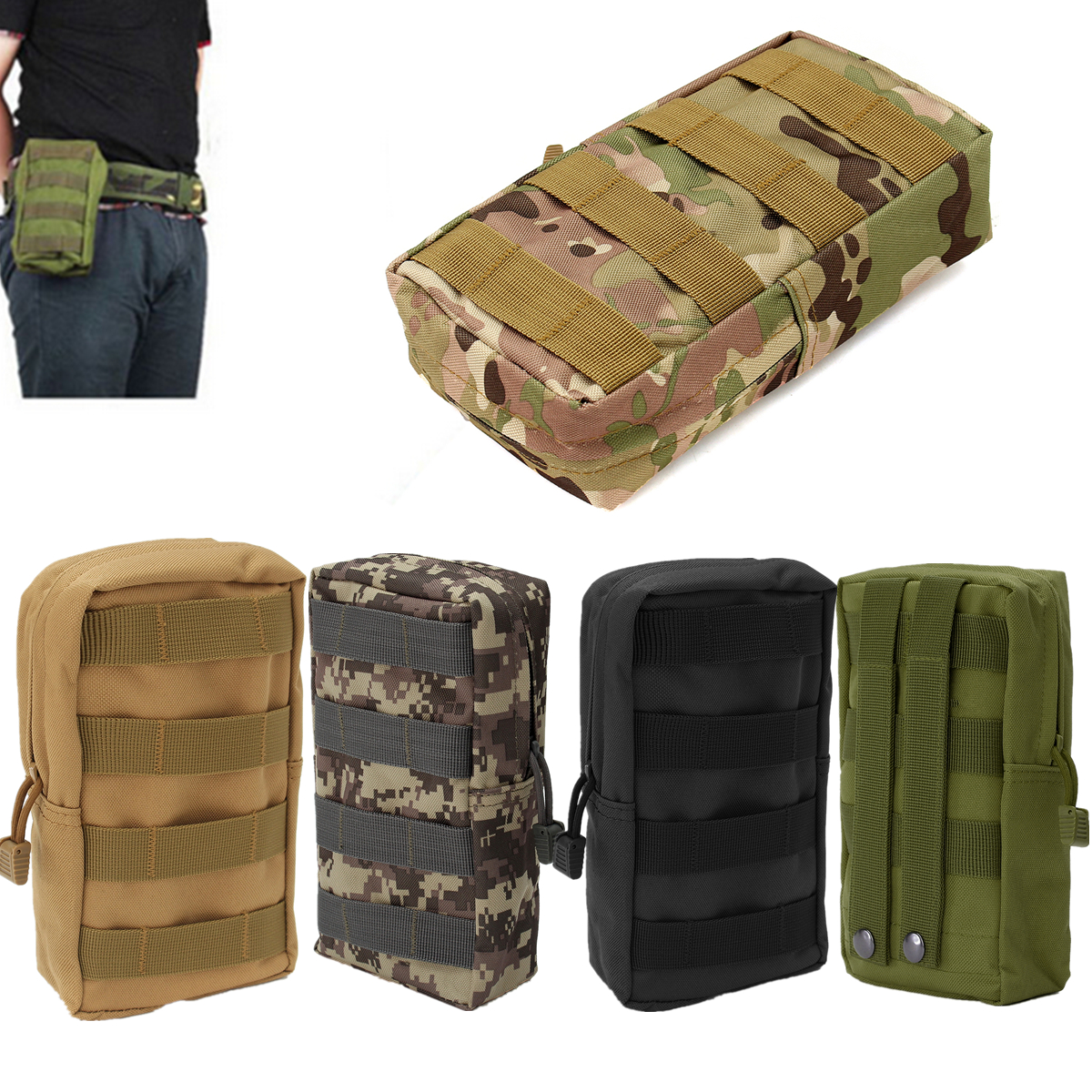 Outdoor Sport Tactical Portable Large Capacity Storage Bag Phone Pouch for Xiaomi iPhone Samsung
