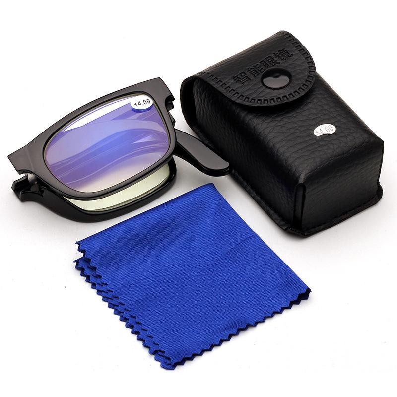 Мужские женские переносные масштабируемые легкие очки для чтения с чехолом Антибактериальные пресбиопические очки