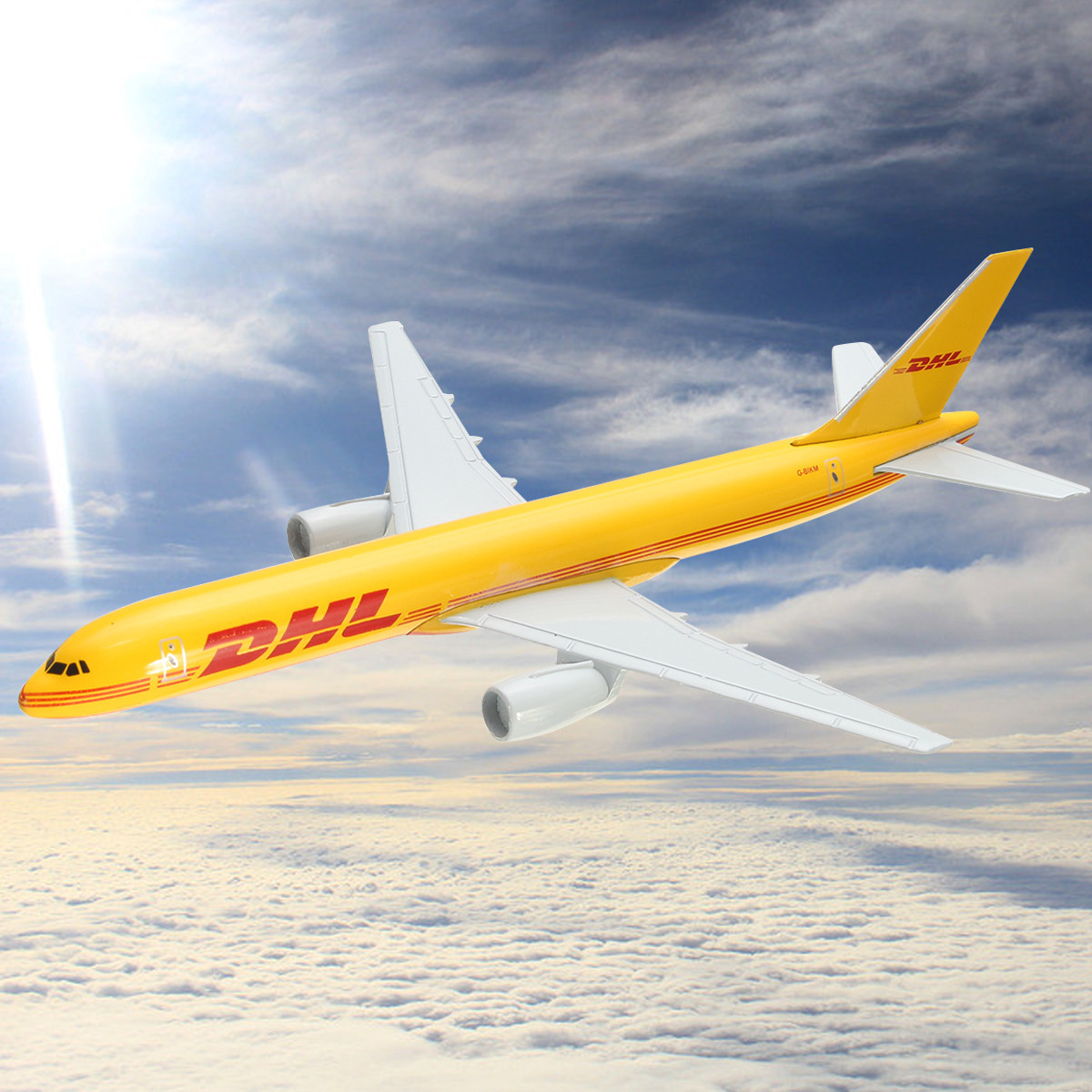 Airplane 16cm Metal Plane Model Aircraft B757 DHL Kargo Aeroplane Scale  Desk Diecast Alloy Toys