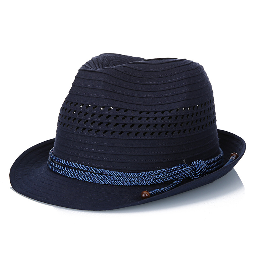Mens Cotton Mesh Hollow Out Bucket Hat Outdoor Visor Stripe Knight Caps